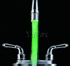 1Stück 7Farbe LED Temperaturgesteuert Rund Wasserhahn Armatur Brausekopf Home