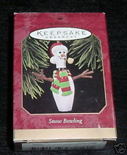 Hallmark Keepsake Ornament Snow Bowling 1997