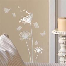 Main Street Wall Creations Sticker Decals~FLOWERS AND BUTTERFLIES (Silver)