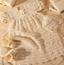 Crochet Pattern Copy ~ Baby Heirloom Open Crescent Newborn Christening Set