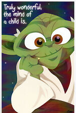 Animated Star Wars - YODA PRINT HAND SIGNED Jorge Baeza