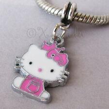 Pink Hello Kitty Princess European Charm Bead For European Charm Bracelets