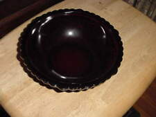 Avon Cape Cod Ruby Glass 8 1/2 Inch Round Vegetable Bowl, EX