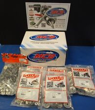 """WOODY'S 144 PACK SIGNATURE SERIES STAINLESS STUDS 1.325"""" w/ ROUND BACKERS"""