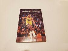 University of Minnesota 1985/86 Men's Basketball & Hockey Pocket Schedule
