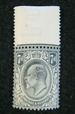 1910 Great Britain S# 145, 7p Gray Edward VII, MNH OG vf with Selvage, Nice