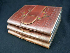 Bargain Set of THREE Hand-Tooled Leather Journals - SECOND QUALITY