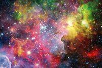 A1 | Colourful Nebula Poster Art Print 60 x 90cm 180gsm Galaxy Space Gift #8764
