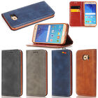 FZ05 Luxury Leather Wallet Case Cover Kickstand Card Pocket For LG Apple Samsung