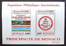 MONACO 2002 Philatelic Exhibition M/Sheet FP9581