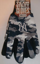 New York Yankees Team Gloves Color Camo MLB Utility Mens Size New Pebble Grip