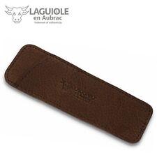 Laguiole en Aubrac - 11/12 cm Taschenmesser Leder Etui braun genarbt Messerhülle