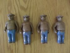 "Used Vintage Lot of 4 Smokey the Bear Tonka Brand ""Action"" type Dolls"