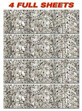 """4 CAMO DECALS MADE FROM 3M WRAP VINYL 48""""x15"""" SNOW BUCK TREE PRINT CAMOUFLAGE"""
