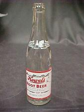 HOWEL'S ROOT BEER ACL SODA POP BOTTLE PITTSBURGH PA ELF With TRAY ACL RED WHITE