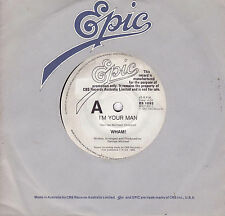 WHAM I'm Your Man 45 - George Michael - White Label Promo