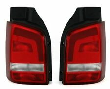 VW T5 TRANSPORTER CARAVELLE MILTIVAN CLEAR REAR TAIL LIGHTS 2009-2015 TAILGATE