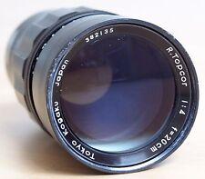R.Topcor 20cm 1:4 Exakta mount preset lens w/ case, Topcon Topcor 200mm f4 200/4
