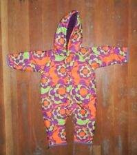 YELLOWFACE Bright Purple/Orange INSULATED SNOW SUIT Winter Sz Kid YOUTH 70 Small