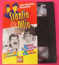 VHS film STANLIO & OLLIO A 45 minuti da hollywood Perche'le ragazze(F181) no dvd