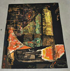 """Mathieu Mategot """"Nocturne"""" Handwoven Abstract Wool Tapestry, Circa 1970"""