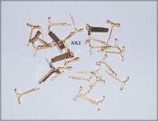 200 Stück Flachkopfklammern Musterklammern Musterbeutel klammern  L. ca.16 mm
