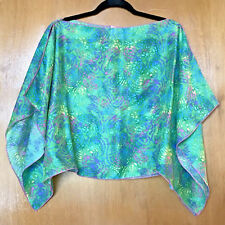 Womens Poncho Cape Top Size L Swimsuit Cover Up Resort Cruise Purchased In Cabo