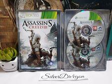 Assassins Creed 3 III G1 Steelbook Game Xbox360 Freedom edition