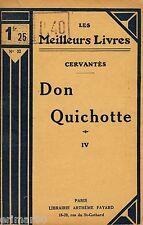 Don QUICHOTTE - Tome IV // Les Meilleurs Livres n° 32 // CERVANTES