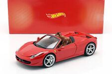 Ferrari 458 Italia Spider Bj. 2011 rot 1:18 HotWheels Heritage