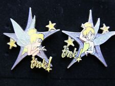 Disney Wdw Tinker Bell Trading Lanyard Tink! Left Right Star 24277 24278 Pin Set