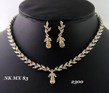Earring Set 14 Mn 5 Cubic Zirconia Champagne Marquise Necklace