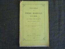 LOIRET ORLEANS M. DE CHAULNES  ETUDE CRITIQUE SUR LA POESIE AGRICOLE 1868