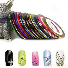 Free Case + 10 Mixed Colour Rolls Striping Tape Nail Art Deco Wedding Bridesmaid