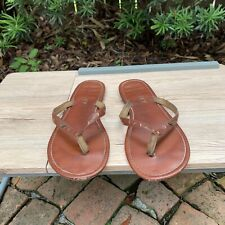 Roxy Women's Size 10.5 Brown Leather Sandals Thong Flip Flops Beach Summer Surf