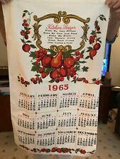 New listing Vintage 1965 Calendar Kitchen Prayer, Bless Cozy Kitchen Fruit Dish Towel