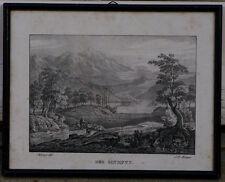 Lot de 2 lithographie Grèce Sparte et Olympus 19ème Olympie