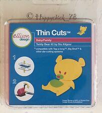 NEW SEALED Ellison THIN CUTS TEDDY BEAR #2 New Baby Sizzix, Tag-a-Long Cuttlebug