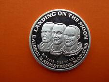 Medaille Apollo 11 Mondlandung 21.07.1969 Aldrin, Armstrong, Collins Silber