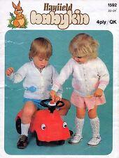~ Vintage 1970's Hayfield Toddler Knitting Pattern For Fish Motif Cardigans ~
