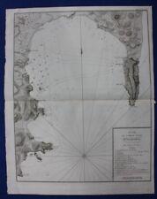 Mapa Antiguo Original, España, Gibraltar, Algeciras, batalla naval, Tardieu, c.1820