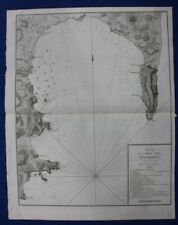 Antique atlas map, SPAIN, GIBRALTAR, ALGECIRAS, NAVAL BATTLE, Tardieu, c.1820