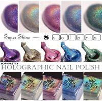 6/10ml Born Pretty Holographic Holo Glitter Nail Polish Hologram Nail Varnish
