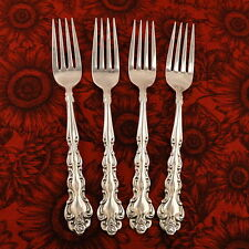 BEETHOVEN Set 4 Dinner Forks by Oneida Community 1971 Vintage Silver Plate