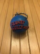 Retro Planet Hollywood Globe Keychain Hard Rubber Earth Planet Key Fob Hollywood