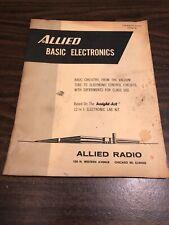 Vintage 1961 Allied Radio Knight Kit Electronic Lab Manual Handbook