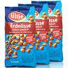 ültje - 3 x Erdnüsse pikant gewürzt in 1 kg Packung - Erdnusskerne geröstet