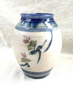 Vtg Art Studio Pottery Vase - Benner Barclay - Brightwood Pottery - Texas