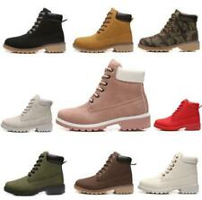 Women Ladies Ankle Boots Autumn Winter Lace Up Booties Casual Shoes Sneakers New
