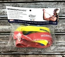 Alliance Workout Bands for Resistance Exercises Light/Medium/Heavy Resistance
